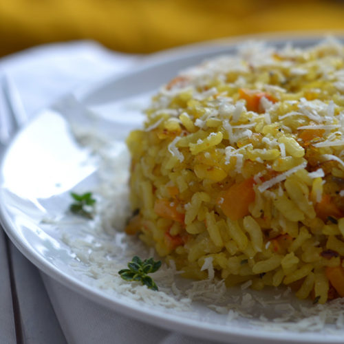 Baked Squash Risotto