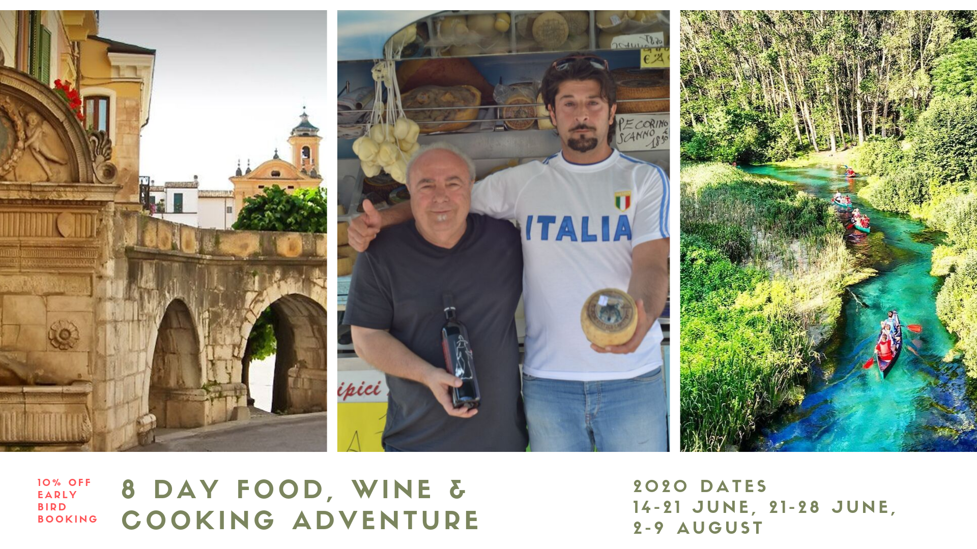 8 Day Italian Food, Wine, Cooking Adventure