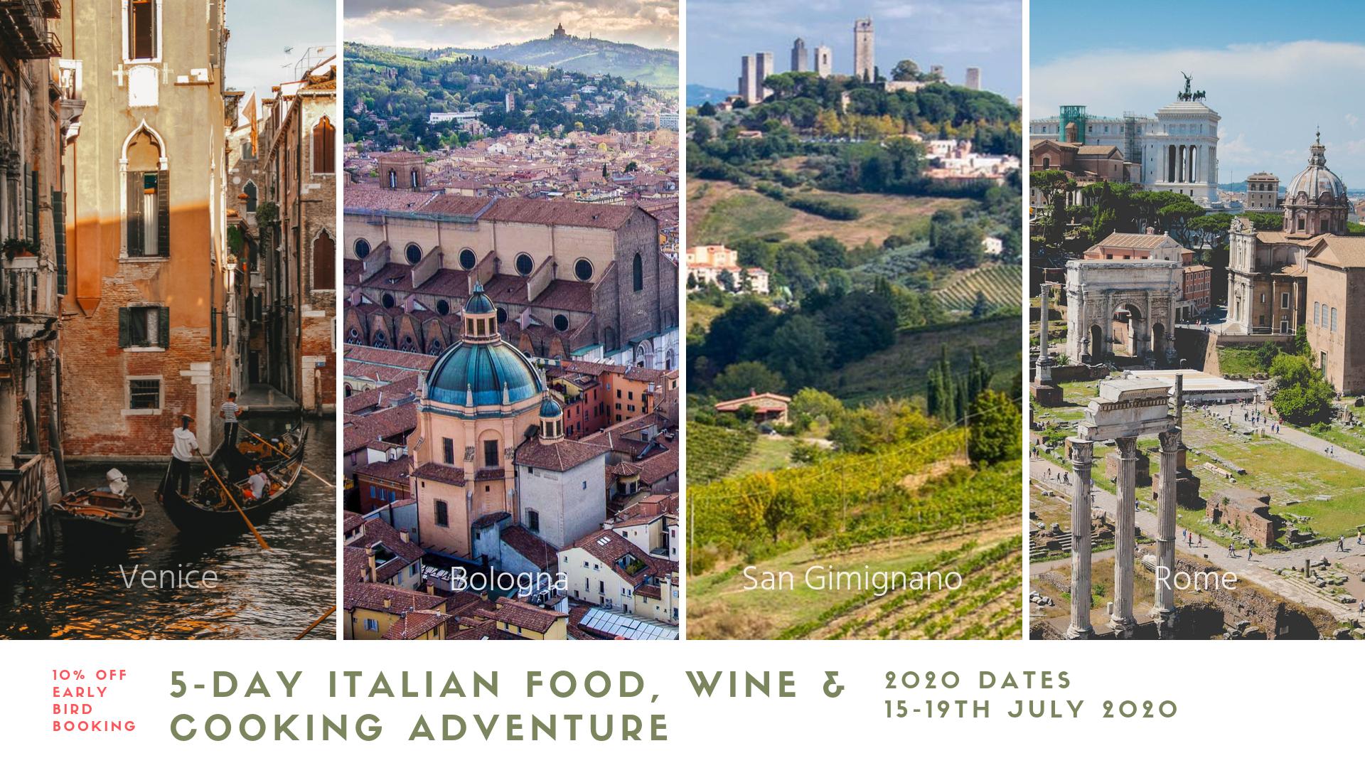 Italian Cooking Holiday Venice, Bologna, Tuscany & Rome